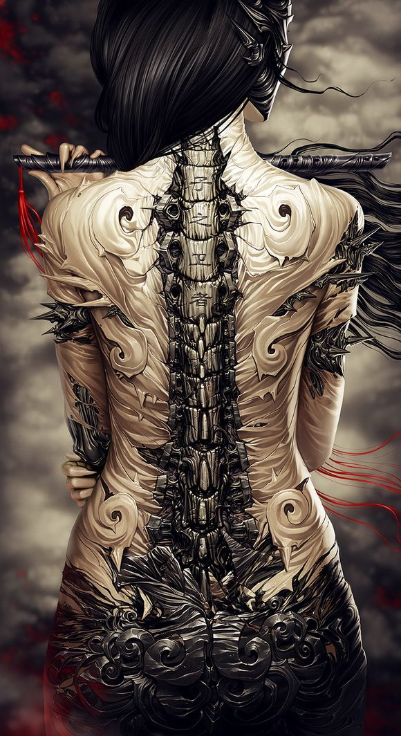 : Design Inspiration, Artists, Digital Paintings, Illustration, Digital Art, Graphics Design, Alexander Fedosov, Dark Art, A Tattoo