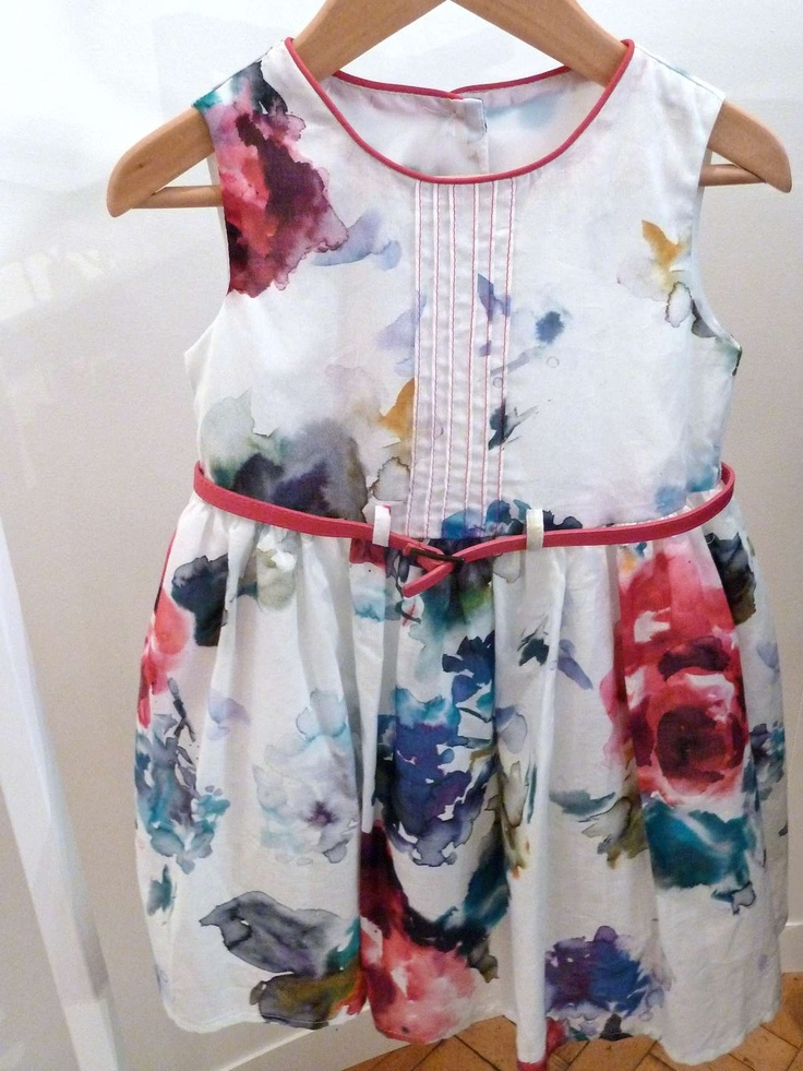 Sweet floral toddler dress with an Italian inspiration at Florence and Fred for summer 2013 kidswear