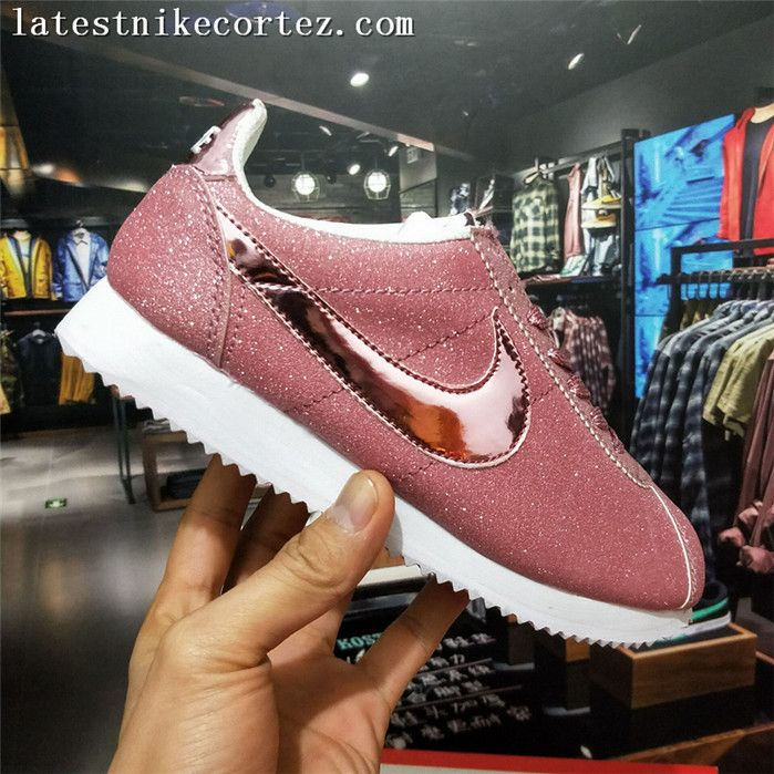 2017 Latest Nike Cortez Womens Casual Sneakers Nubuck Leather Pink