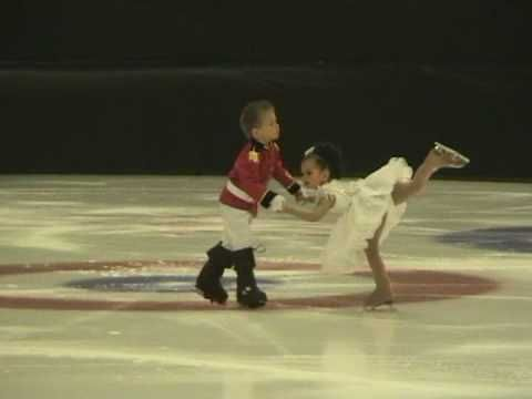 4 Year old Twins perform to The Nutcracker on Ice