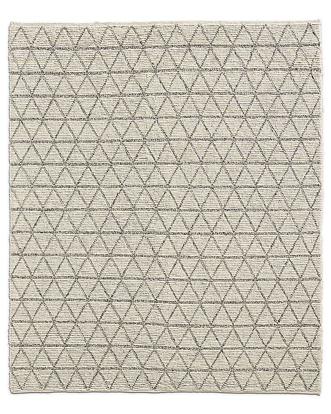 Triango Wool Rug Ivory Grey
