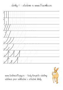 Procvičení základních tvarů - čárky a obloučky