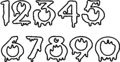 Halloween number fonts