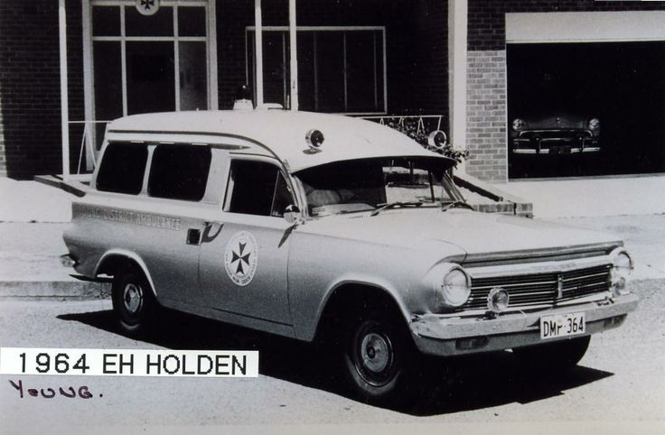 1964 Holden EH Panel Van. NSW Ambulance Service vehicle, used by the service in Young, NSW, Australia