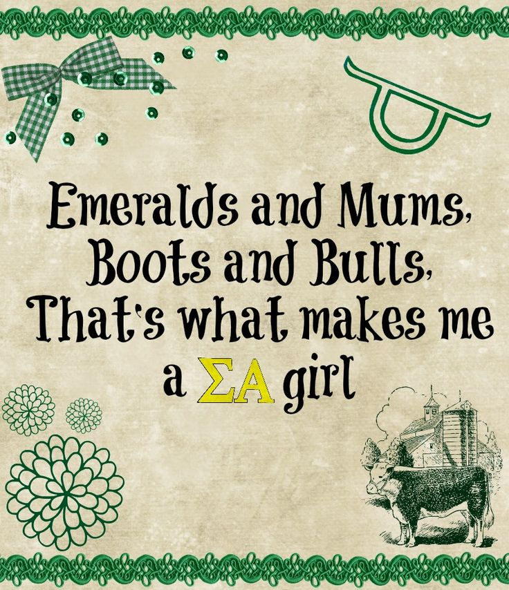 Emeralds and mums, boots and bulls, that's what makes me an SA girl