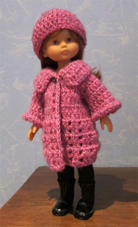 Marie vous présente aujourd'hui une tenue bien chaude composée d'un manteau et d'un bonnet (le legging et les bottes sont de Corolle) et ...