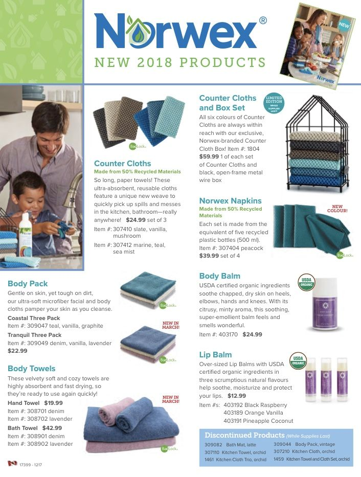 New 2018 norwex products