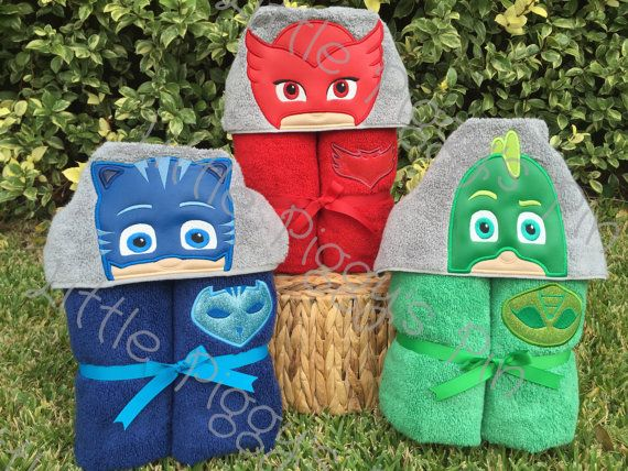 Hooded Towels - PJ Masks from Disney Jr.  Great birthday or Christmas gift !