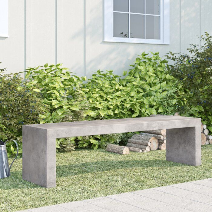 Foundry Select Colegrove Backless Concrete Garden Bench Reviews Wayfair Concrete Garden Concrete Garden Bench Small Garden Bench