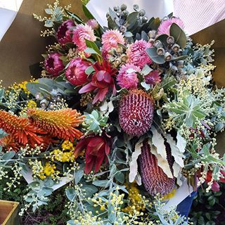 Beautiful large bouquet of all native flowers and foliage.