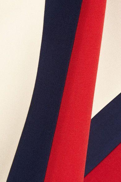 Gucci - Striped Wool And Silk-blend Crepe Skirt - Ecru - IT36