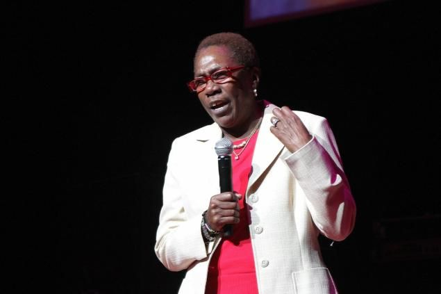 RIP: Afeni Shakur speaks onstage at Tupac's 40th Birthday Celebration at the Atlanta Symphony Hall on June 16, 2011.