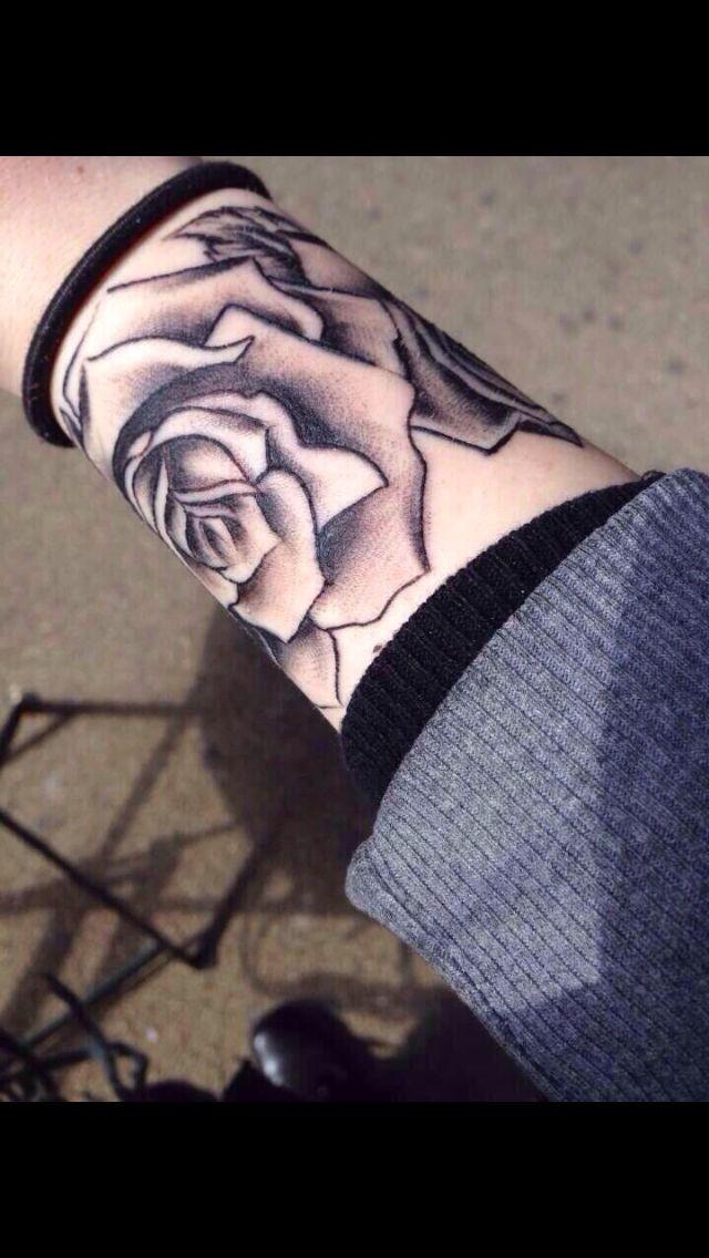 Rose Tattoo Around Wrist