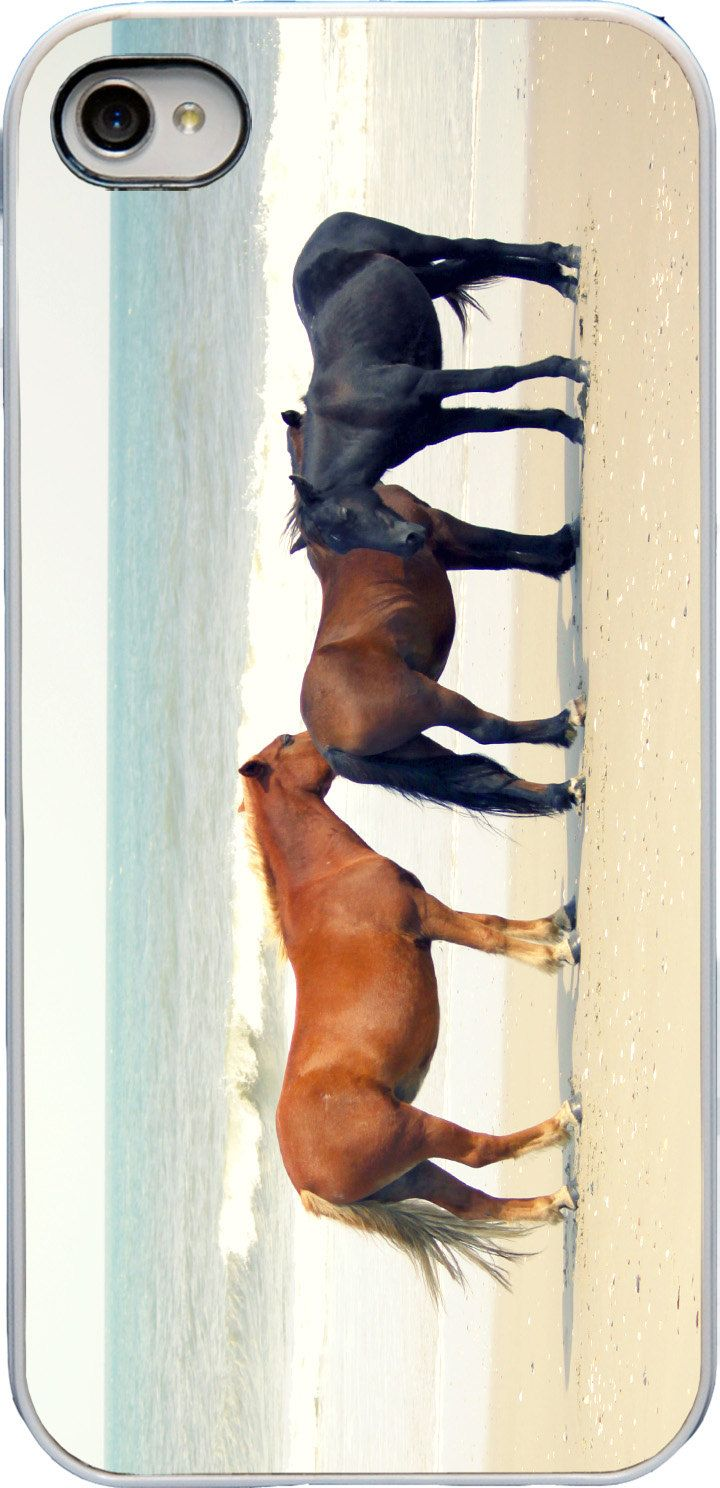 iPhone 5 Case - Beach iPhone Case - Horse iPhone Case - Horses on Beach - Plastic Photo iPhone Cover. $30.00, via Etsy.