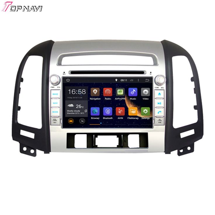 7'' Quad Core Android 5.1 Car GPS For HYUNDAI SANTA FE 2006 2007 2008 2009 2010 2011 2012 With Video Radio Stereo Free Shipping