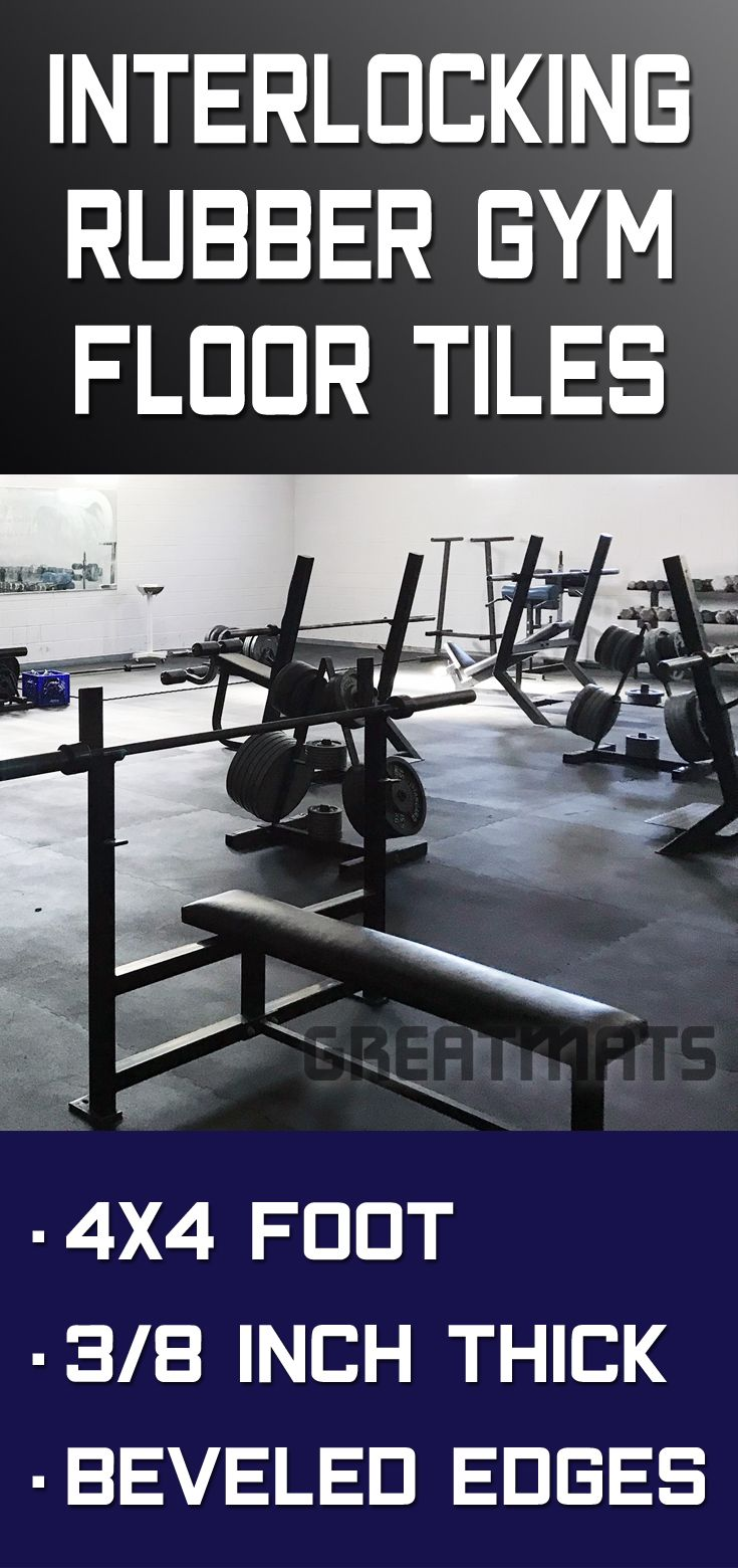 Rubber Home Gym Flooring Tile Rubberlock Black 4x4 ft