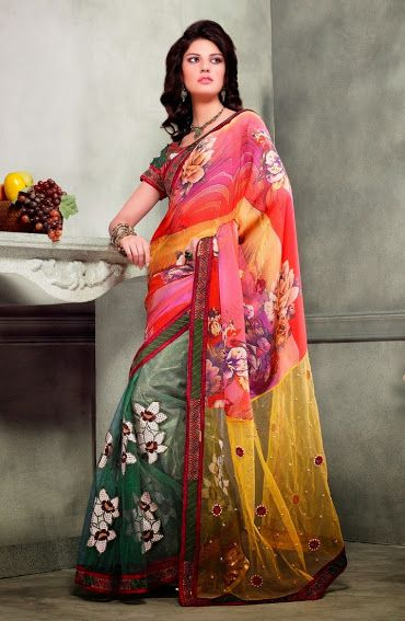 2323. Beckoning Georgette Saree   INR 3900/-