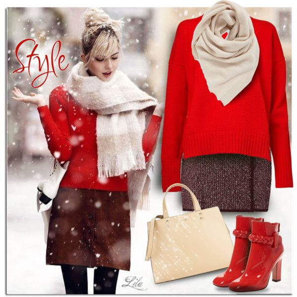 Cute and cozy - boots by breathing-style on Polyvore featuring moda, &Daughter, Sonia Rykiel, Valentino, Calvin Klein and BP.