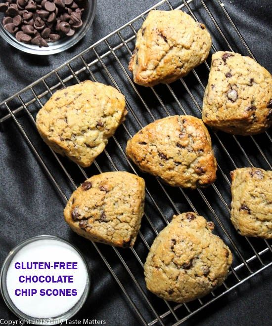 Gluten-Free Chocolate Chip Scones for a GF & nut freeMother's Day ...