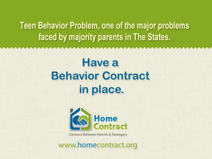 A general behavior contract for teens can help parents address behavior problems that parents are experiencing with their teens.