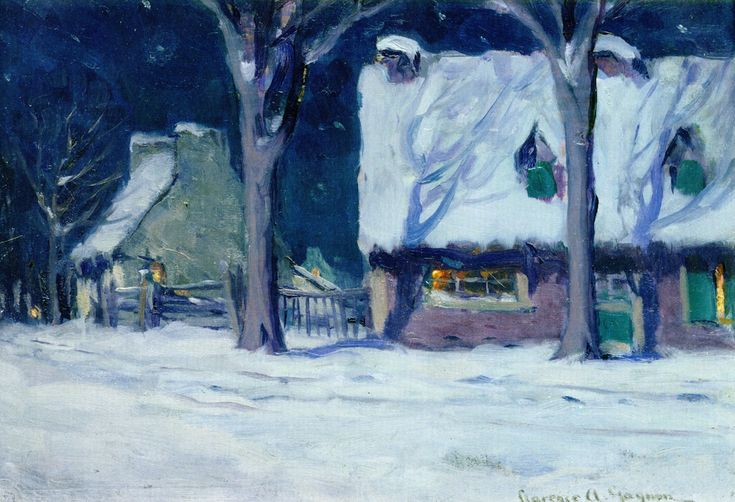 "Clarence Gagnon, ""Moonlight, Quebec"" (1920)"