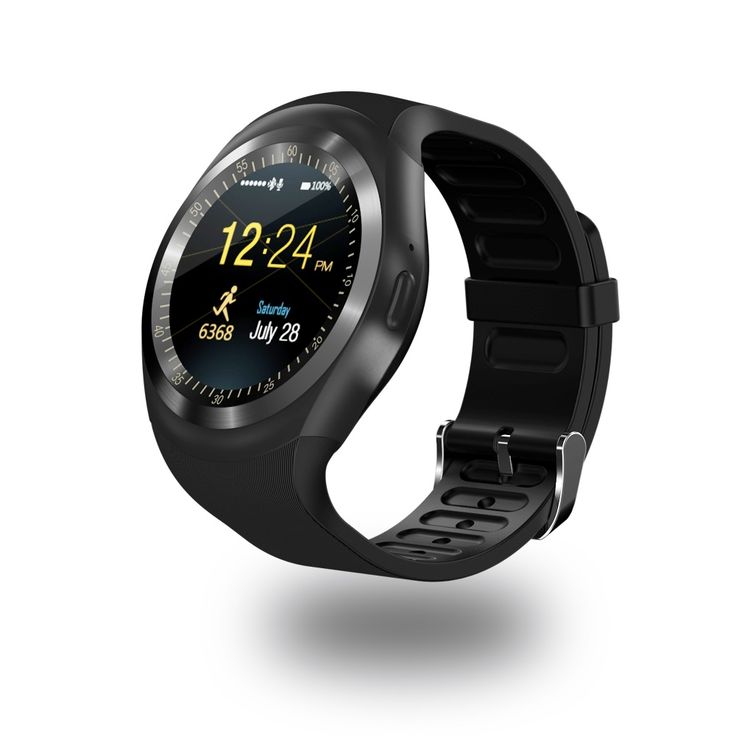 Y1 Ronde Bluetooth 3.0 Wearable Smart horloge Mannen Vrouwen Klassieke Business Smartwatch voor Android