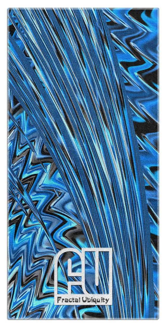 Fractal Waves Microfiber Polyester Oversized Beach Towel