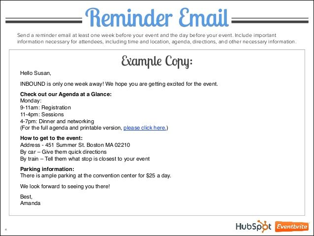 image result for event reminder email wording