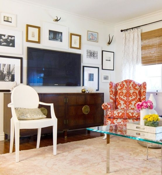 1000 ideas about wall behind tv on pinterest hide wires for Hide tv in living room