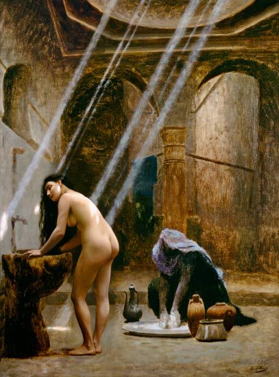 Gérome, Jean-Léon : The Moorish Bath