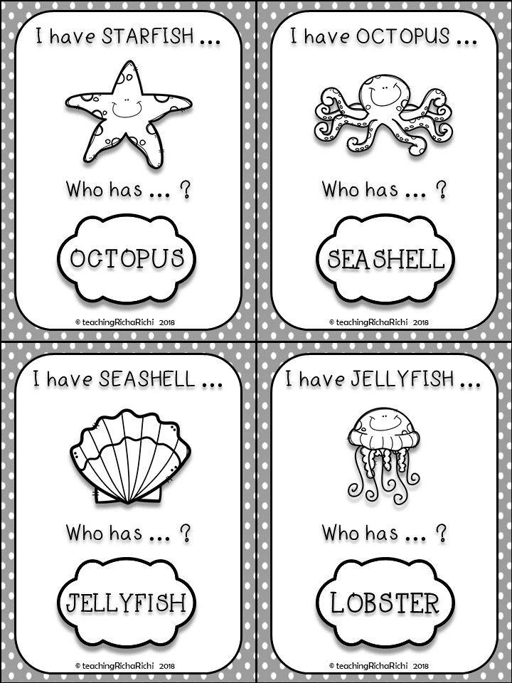 I Have Who Has Games. Kindergarten, Pre-K, First Grade
