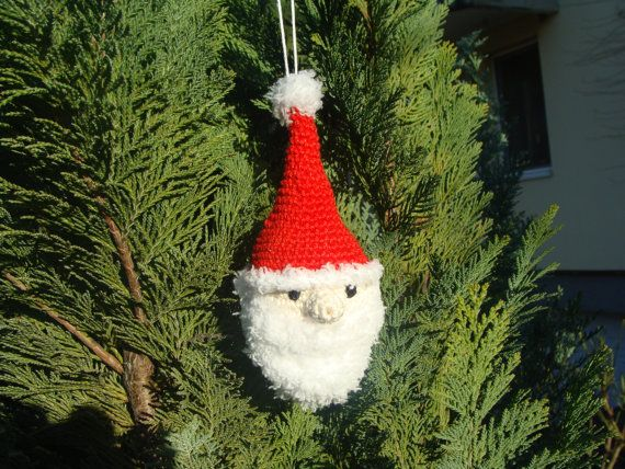 Santa Claus Christmas Ornaments, Christmas Decorations, Xmas Ornaments, Xmas Decoration, Amigurumi Santa Claus Plush, Christmas Gifts