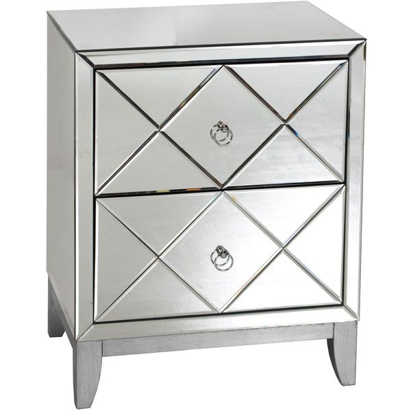 worlds away dylan side table found on polyvore featuring home furniture tables accent mirrored