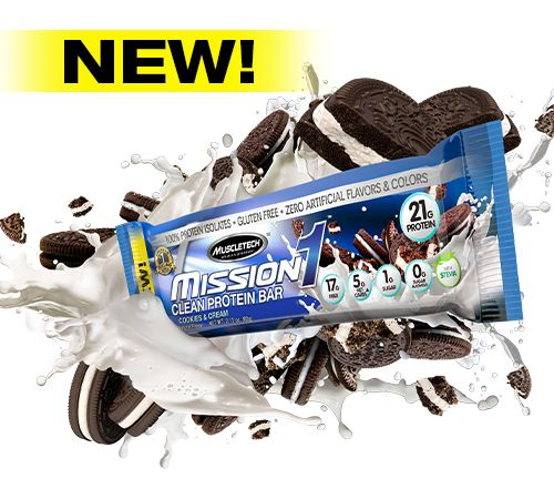 MuscleTech Mission 1 Clean Protein Bar | Nutrition Warehouse Canada