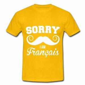 T shirt France Humour Sorry i am Français B HJN - T-shirt Homme