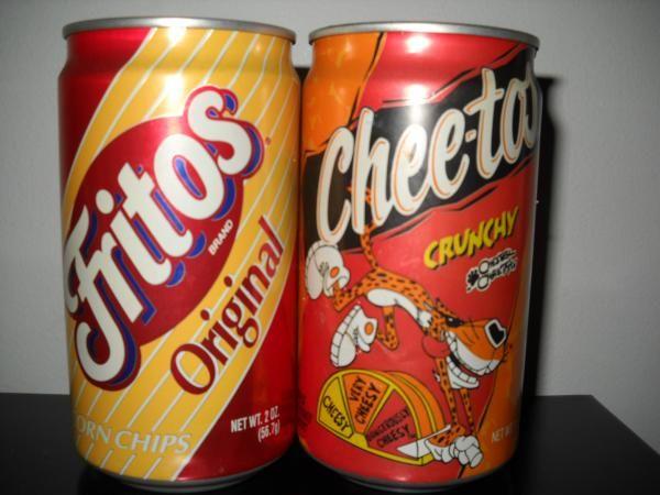 Fritos and Cheetos Aluminum soda can