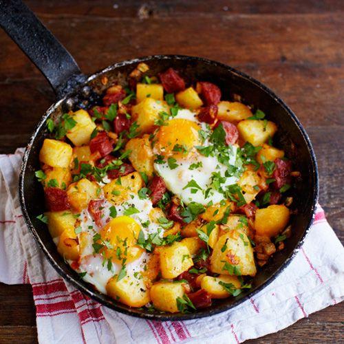 Aardappel-chorizo-ontbijt recept - Jamie magazine