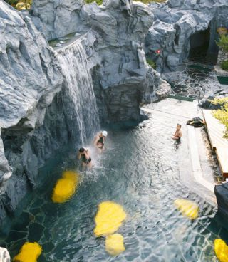 Gangwon-do Sokcho-si, South Korea (seorakwaterpia.com) Why It Rocks: This amusement-park-meets-Korean-sauna four hours outside of Seoul serves up natural mineral water in all imaginable forms: wave pool, waterfalls, rafting zone, and therapeutic hot and cool soaks, making it a year-round hot-springs hideaway for stressed-out city dwellers and numerous Korean pop stars. Signature Service: Head to the Outdoor Leisure Spa area for traditional Korean hydrotherapy — their hyperaggressive…