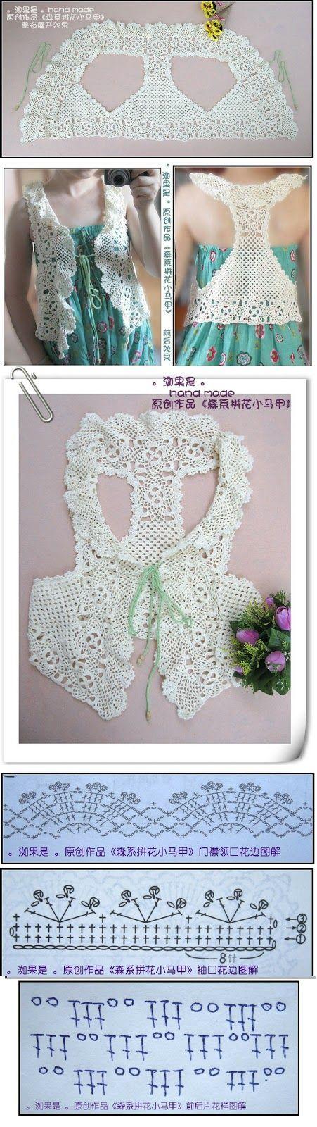 original+crochet+vest+pat1.jpg (451×1600)
