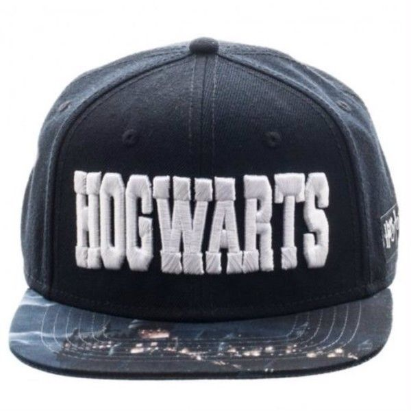 Harry Potter Hogwarts Sublimated Bill Snapback ($18) ❤ liked on Polyvore featuring accessories, hats, bill hats, snapback hats and snap back hats