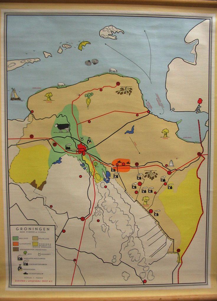 Blinde kaart van Groningen en de klas maar opdreunen: Groningen Hoogezand Sappermeer Veendam Wildervank Winschoten Oude Pekela Nieuwe Pekela Stadskanaal enz.