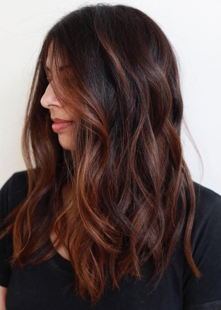Long Chestnut Balayage Hair