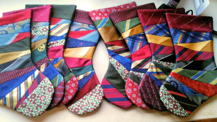 Me and My Stitches: These stockings are made from my grandpa's neck ties.