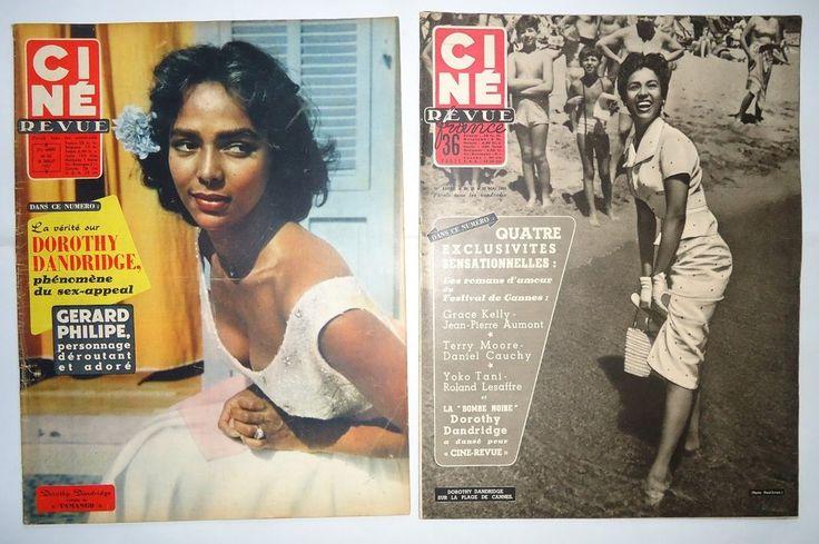 Dorothy Dandridge Famous Quotes: DOROTHY DANDRIDGE On Covers/2 CINE REVUE 50's Magazines