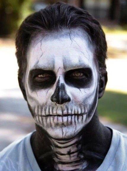 skeleton makeup for Halloween