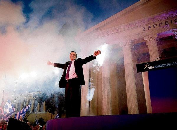 Samaras says Greeks will stay the course despite suffering unprecedented hardships #euro #Greece #eurocrisis