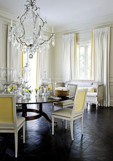 DraperiesDecor, Dining Rooms, Ideas, Floors, Interiors, Diningroom, Yellow, Melanie Turner, Design