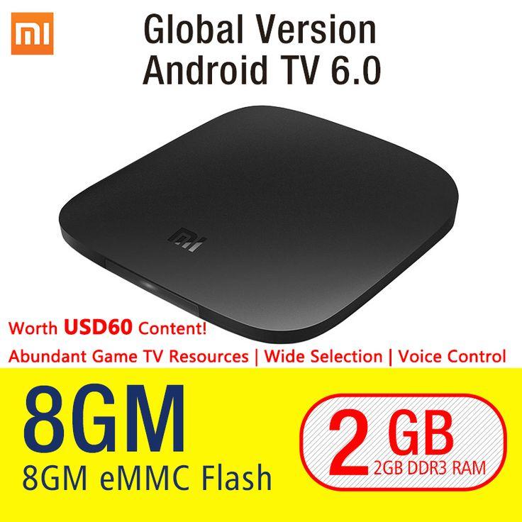 Asli xiaomi mi kotak android 6.0 cerdas set-top box tv 4 k Quad Core WIFI Dolby DTS Sling TV Netflix Youtube IPTV Media Player