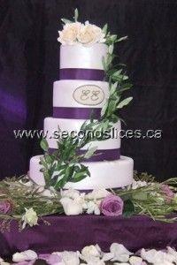 #Wedding #Cake #white #olives #Purple www.secondslices.ca