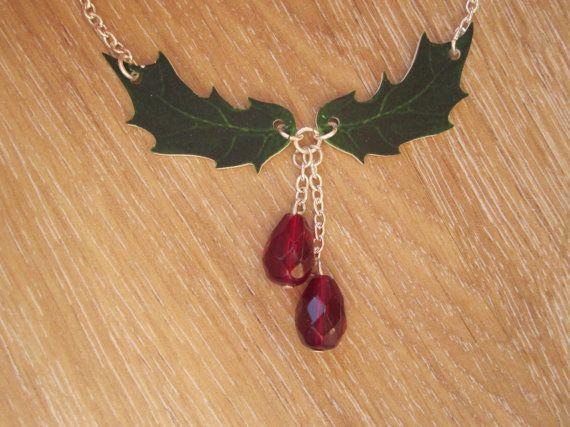 Houx de Noël nouveauté rétrécir le collier en plastique